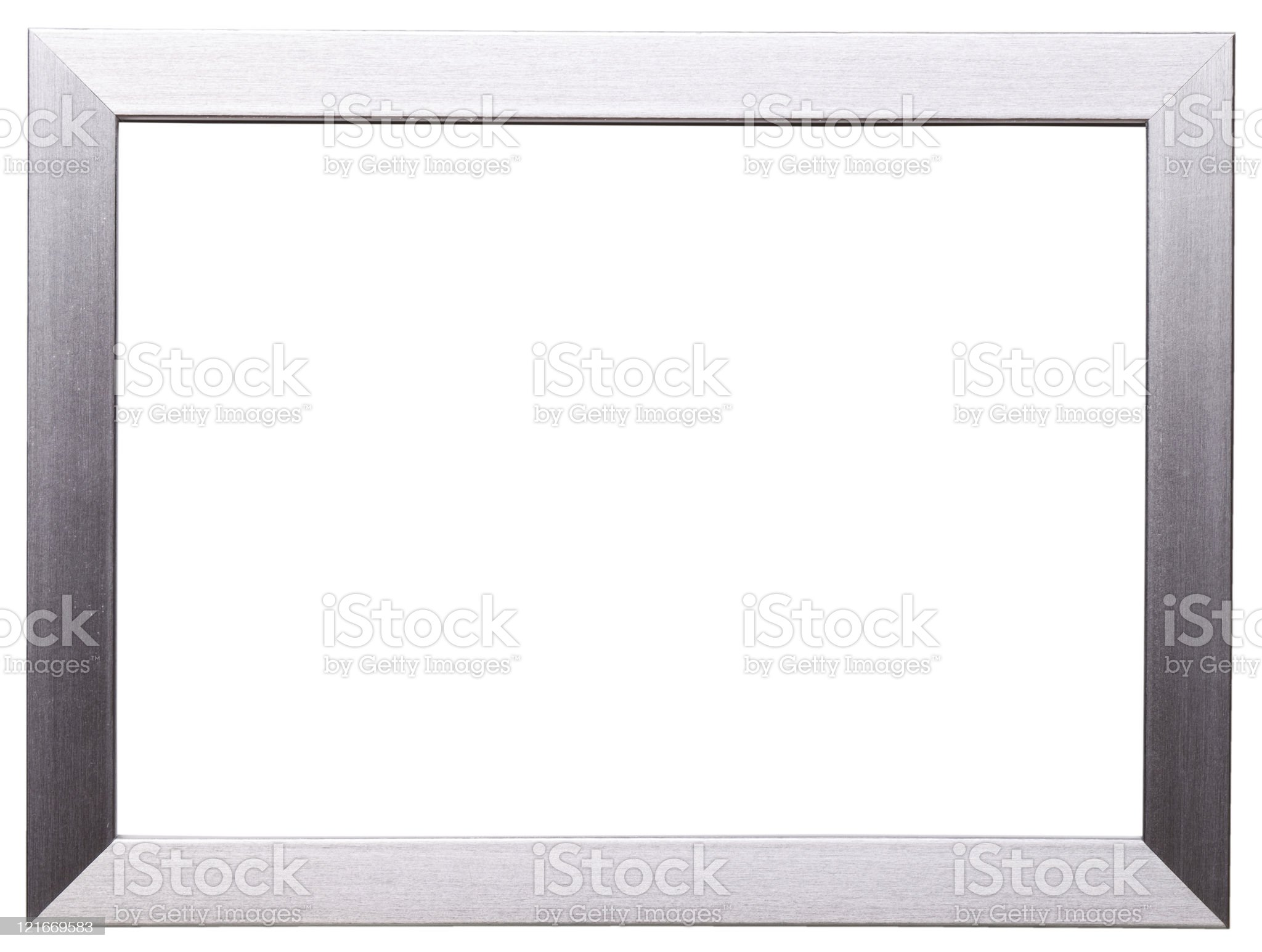 Silver frame isolated on white royalty-free stock photo
