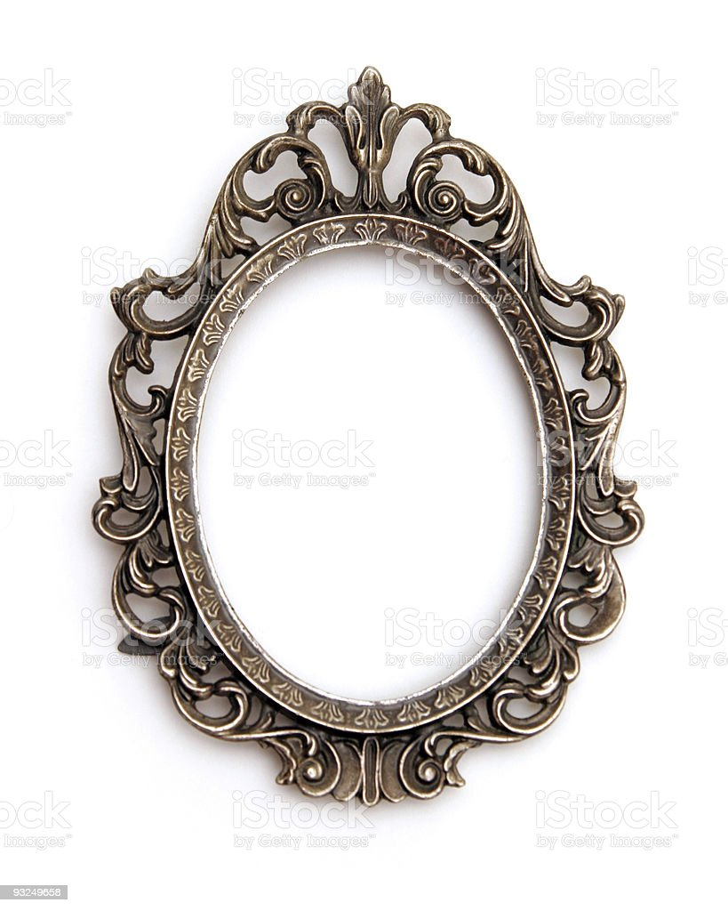 silver frame royalty-free stock photo