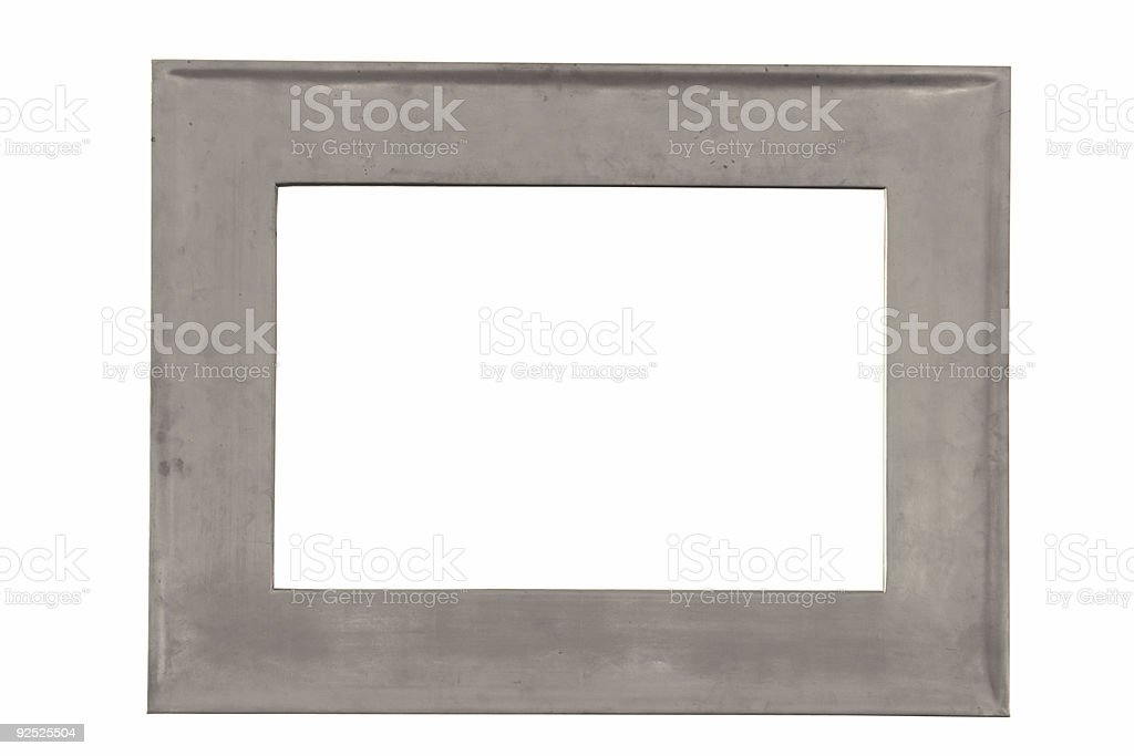 Silver frame with clipping path royalty-free stock photo