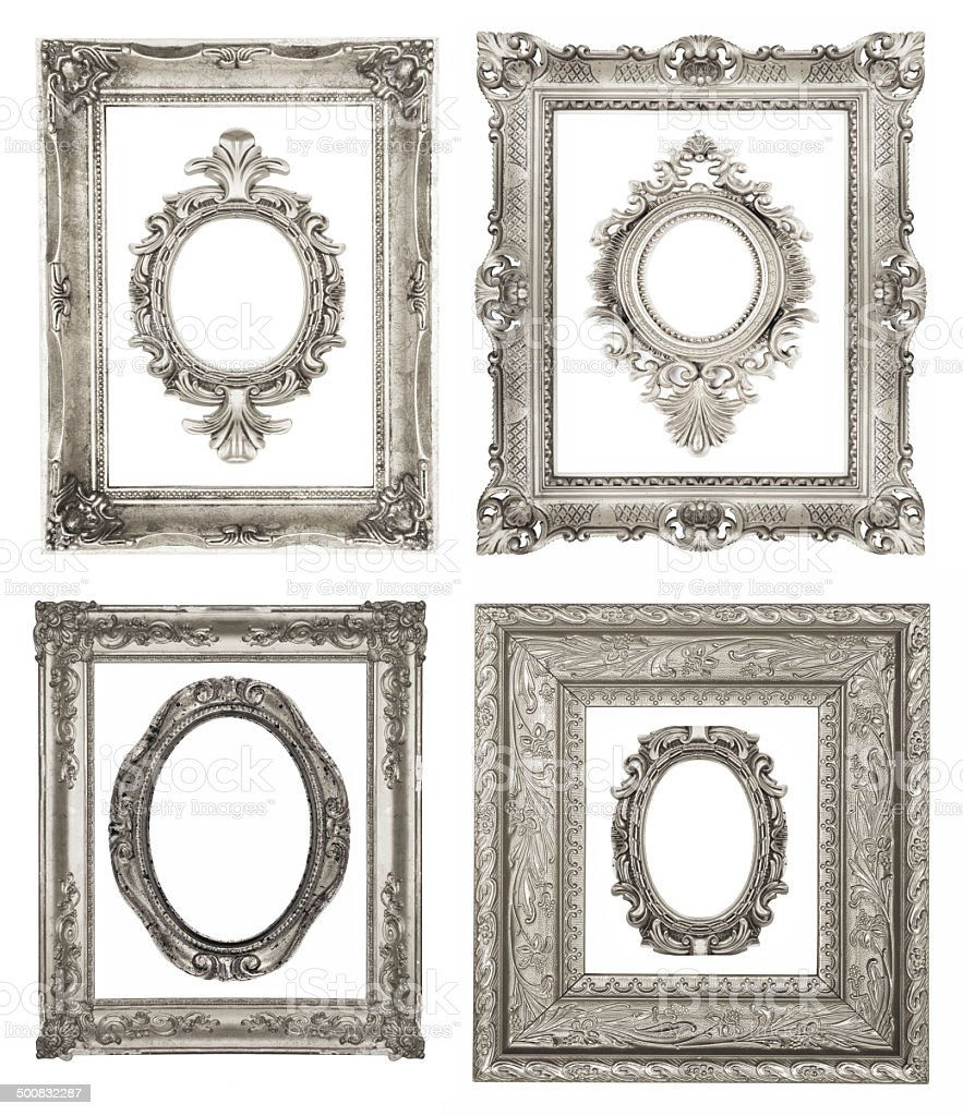 Silver frames royalty-free stock photo