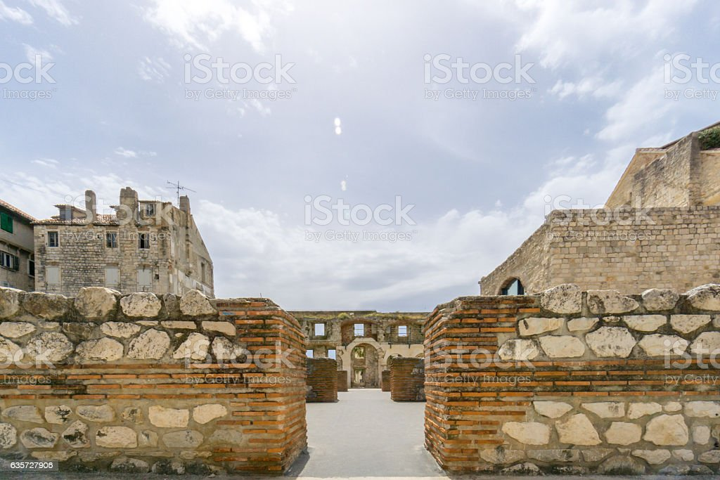 Silver Gate in the Diocletian's Palace stock photo