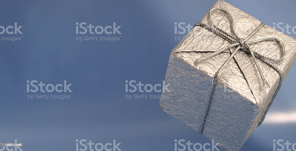 Silver Gift royalty-free stock photo