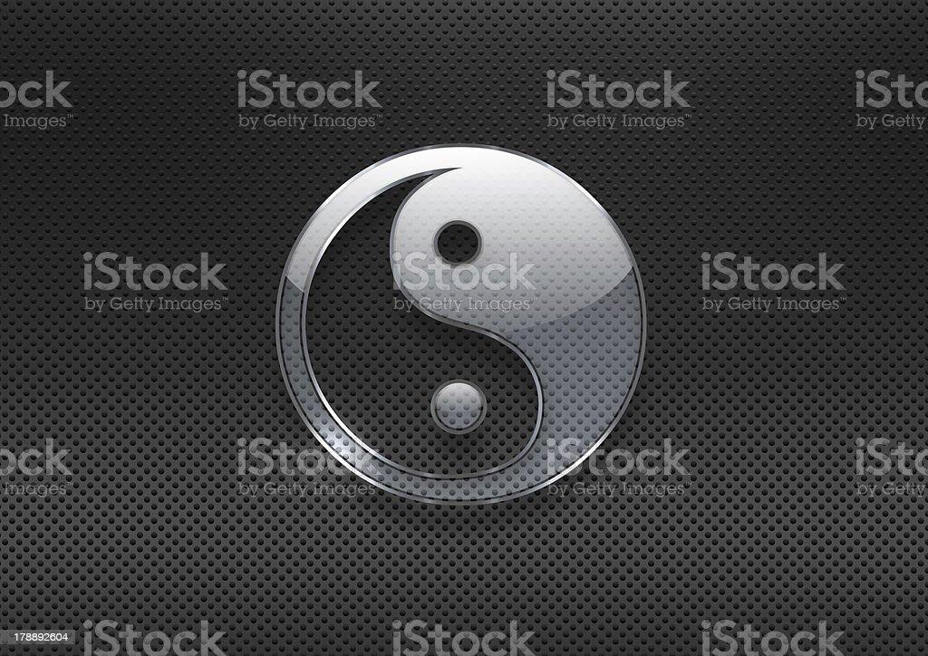 silver glass yin yang royalty-free stock photo