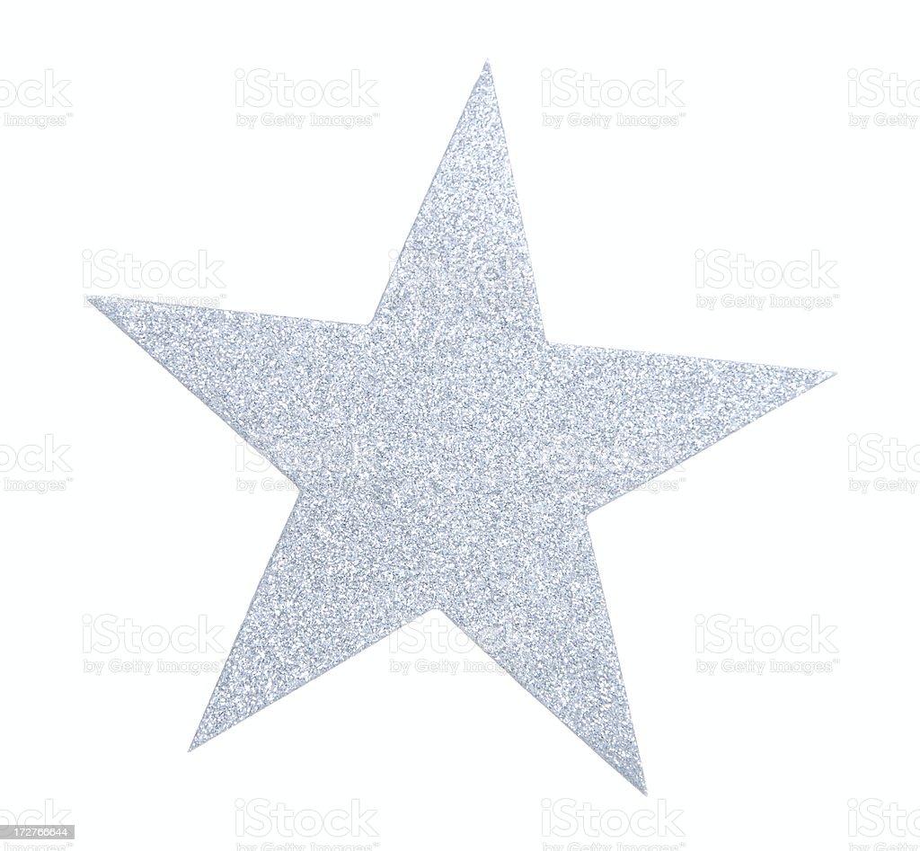 Silver Glitter Star stock photo