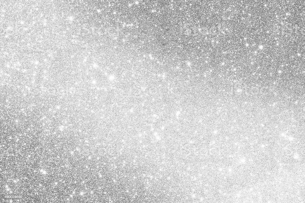Silver glittering background stock photo