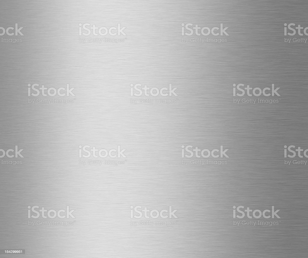 A silver gradient on brushed metal stock photo