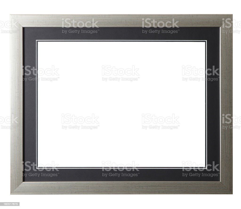 Silver Grunge Frame royalty-free stock photo