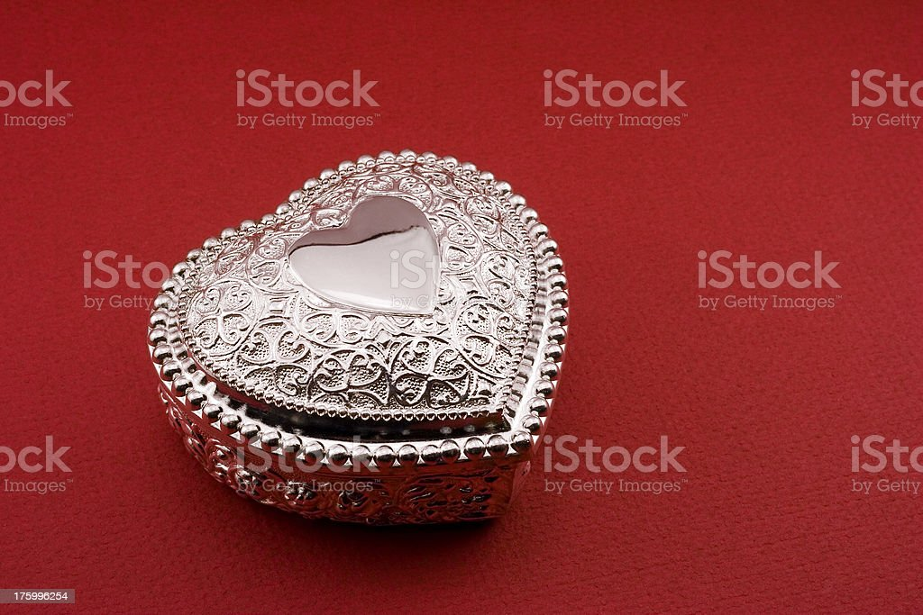 Silver Heart Dish royalty-free stock photo