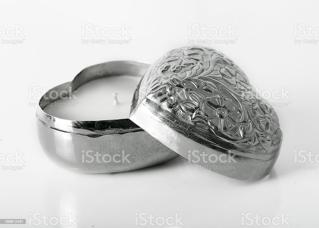 Silver Heart royalty-free stock photo