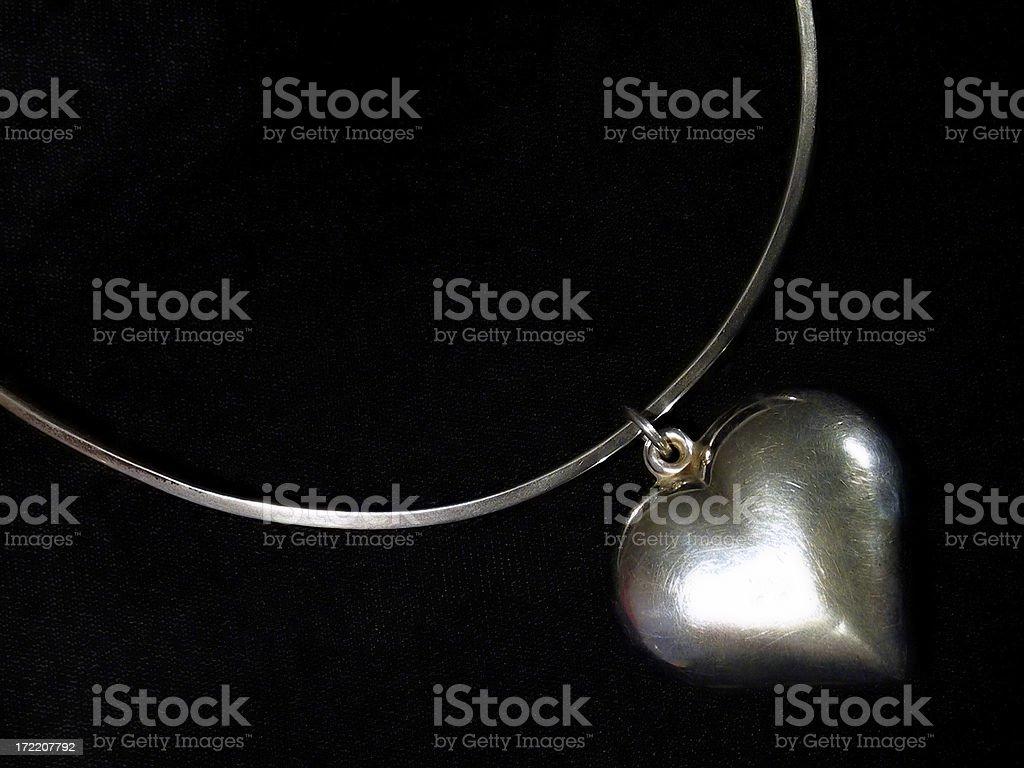 Silver Heart royalty-free stock photo