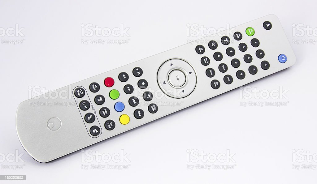 Silver high-end remote audio video controller royalty-free stock photo