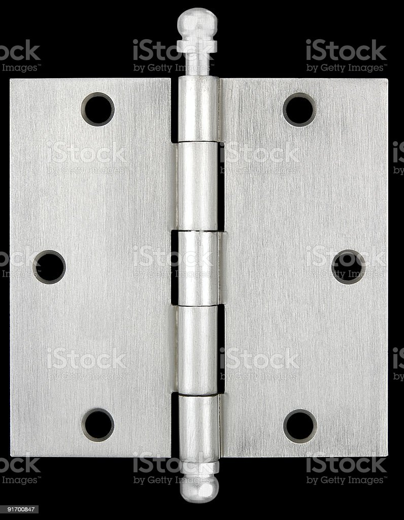 Silver hinge stock photo