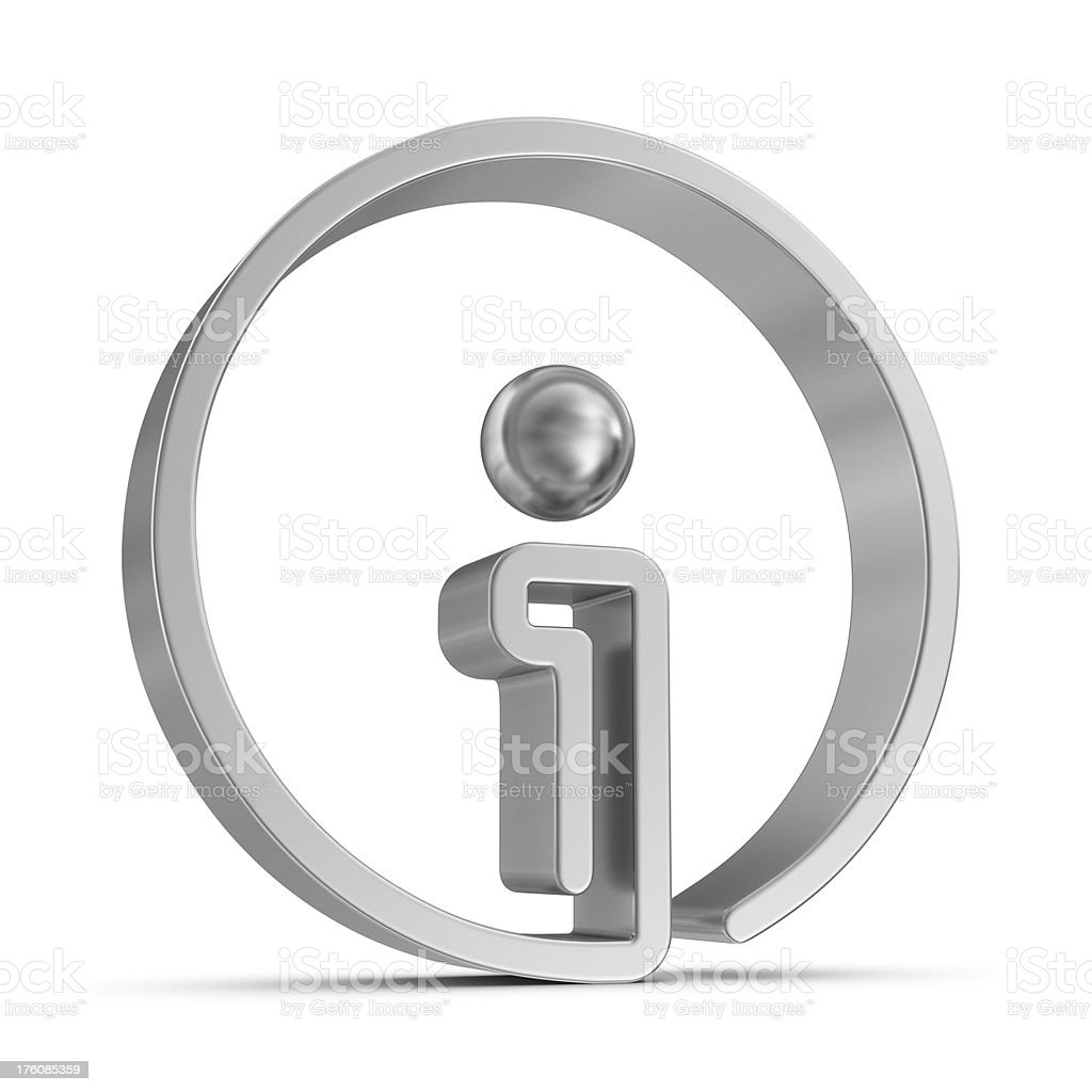 silver info sign icon royalty-free stock photo