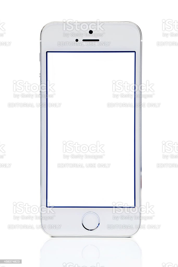Silver iPhone 5s stock photo
