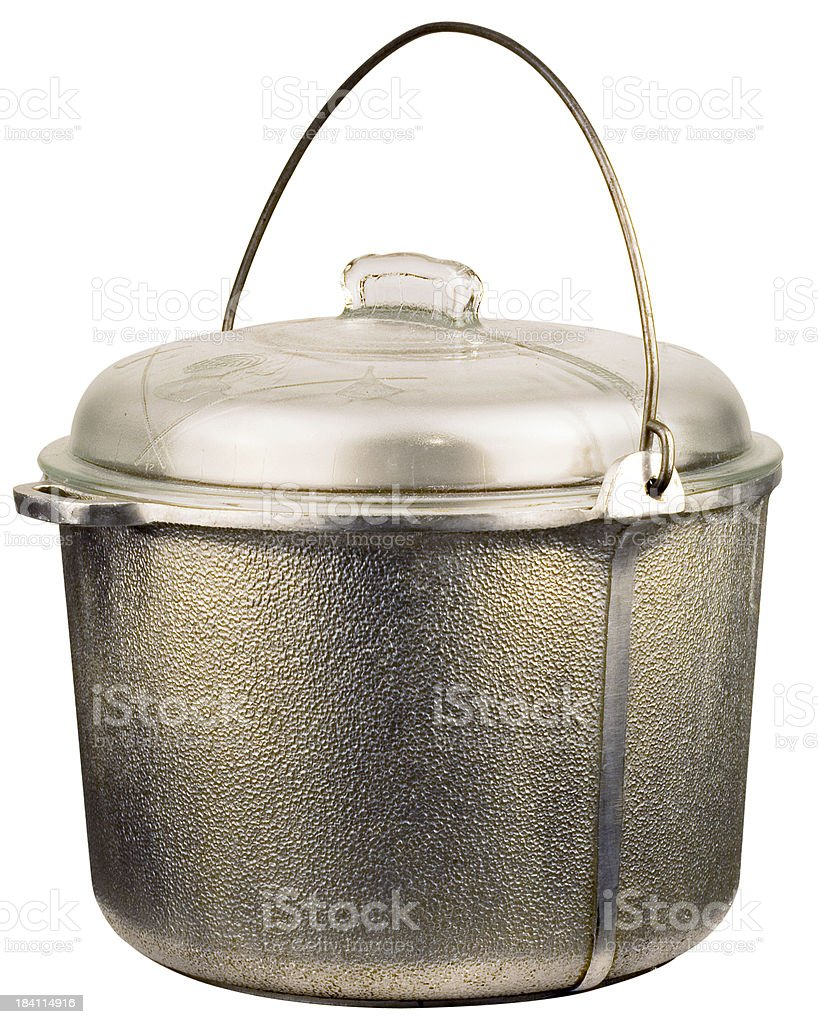 Silver isolated kettle (w/CLIPPING PATH) royalty-free stock photo