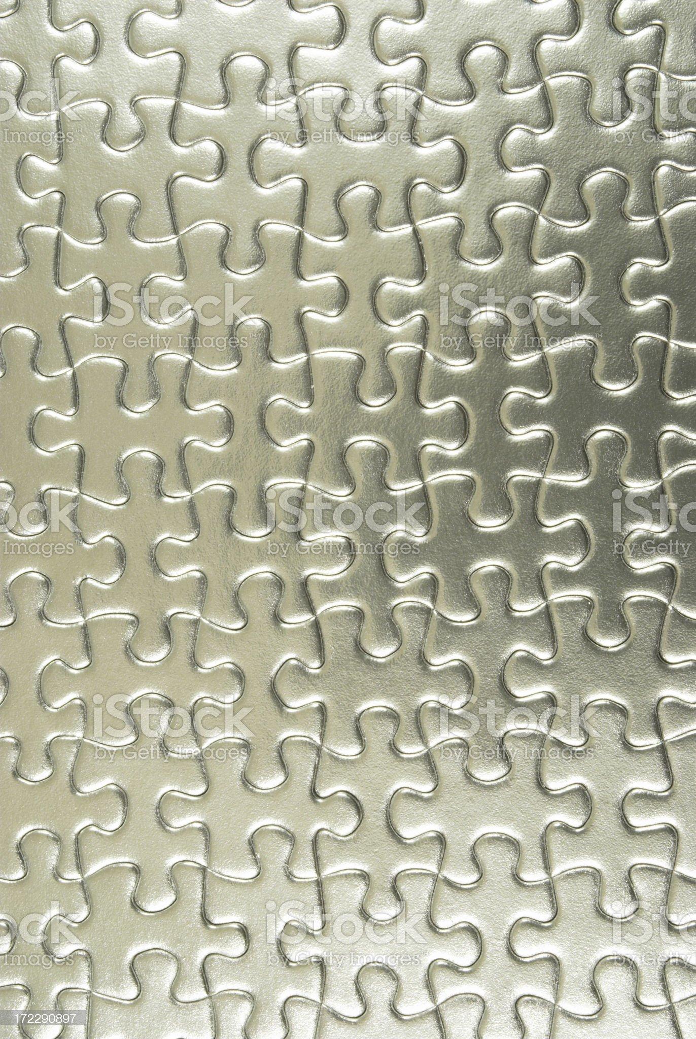 silver jigsaw royalty-free stock photo