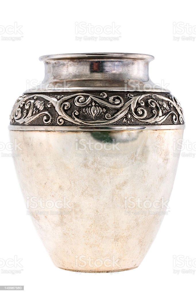 Silver jug stock photo