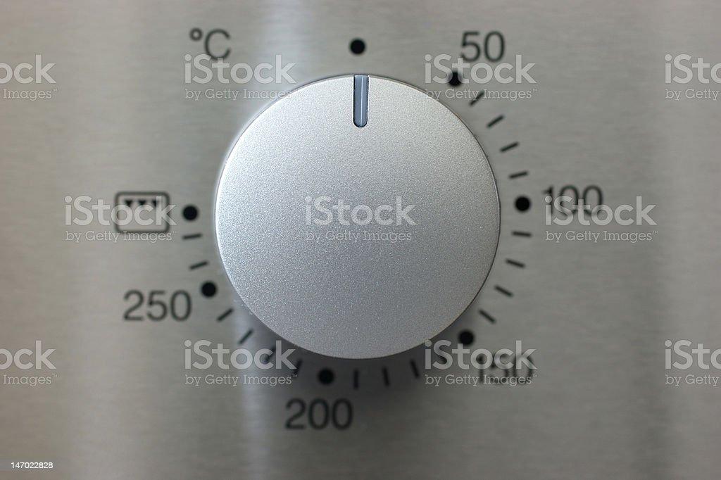 silver knob stock photo