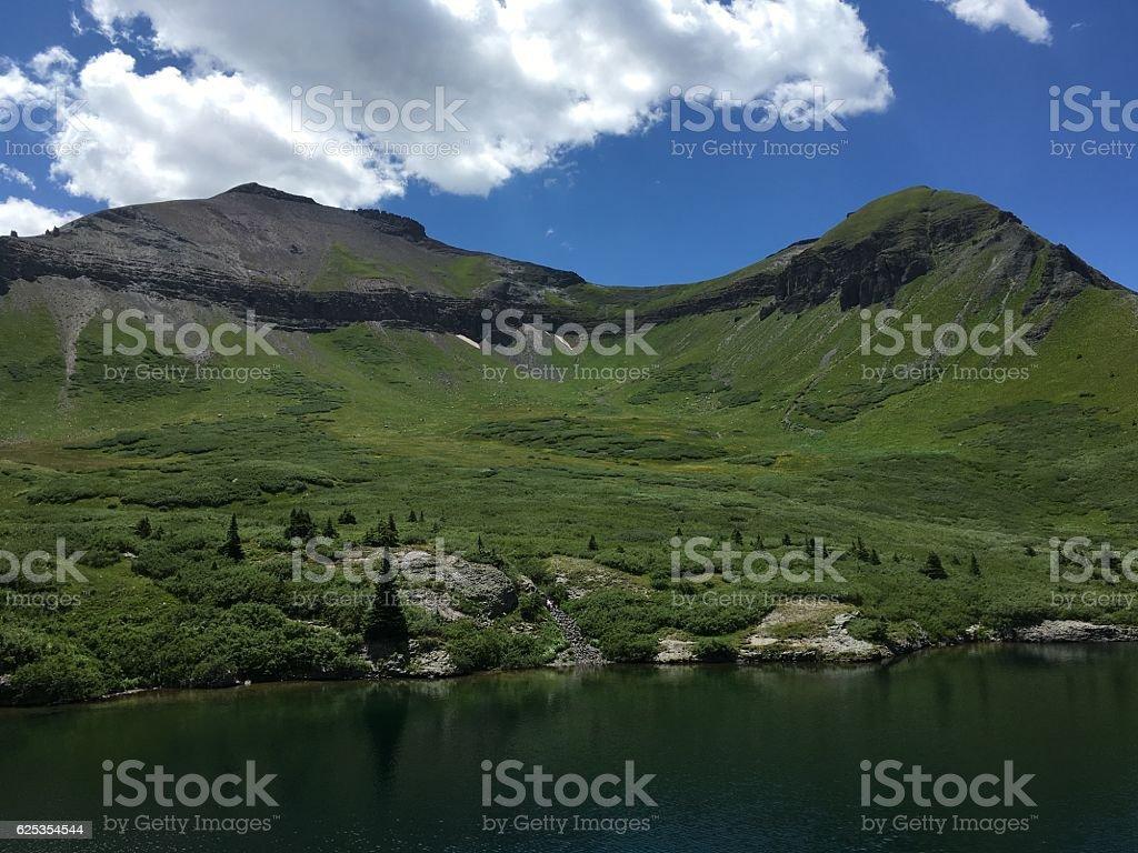 Silver Lake Colorado View stock photo