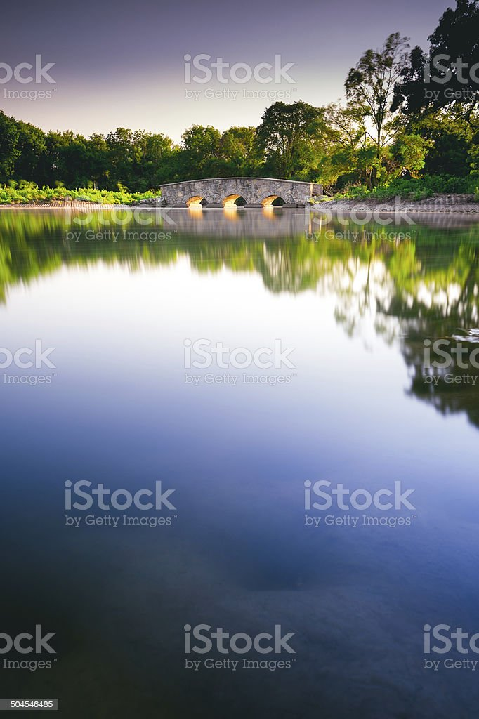 Silver Lake park stock photo