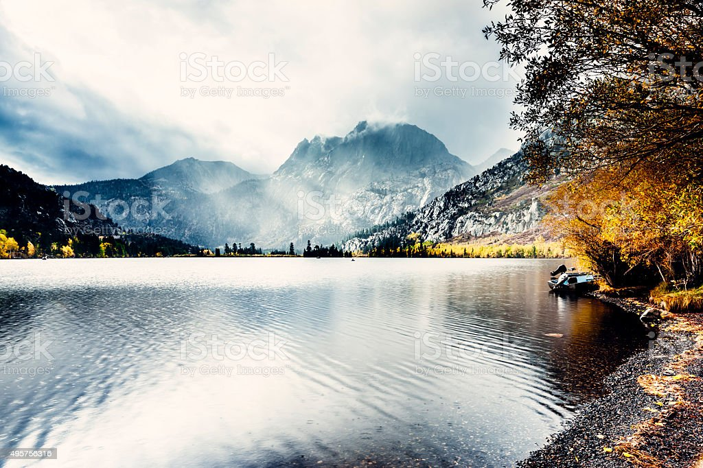 Silver Lake, Sierra Nevada, California stock photo