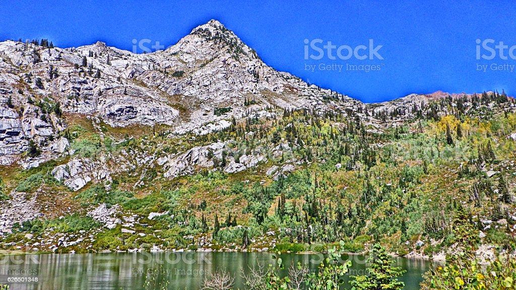 Silver Lake Utah HDR 3 stock photo