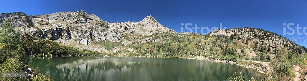 Silver Lake Utah Panorama stock photo