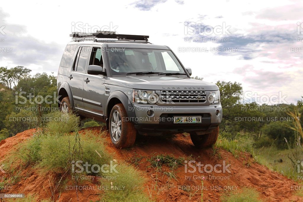Silver Land Rover Discovery 4 SDV6 S stock photo