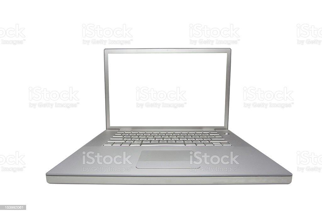 Silver Laptop royalty-free stock photo