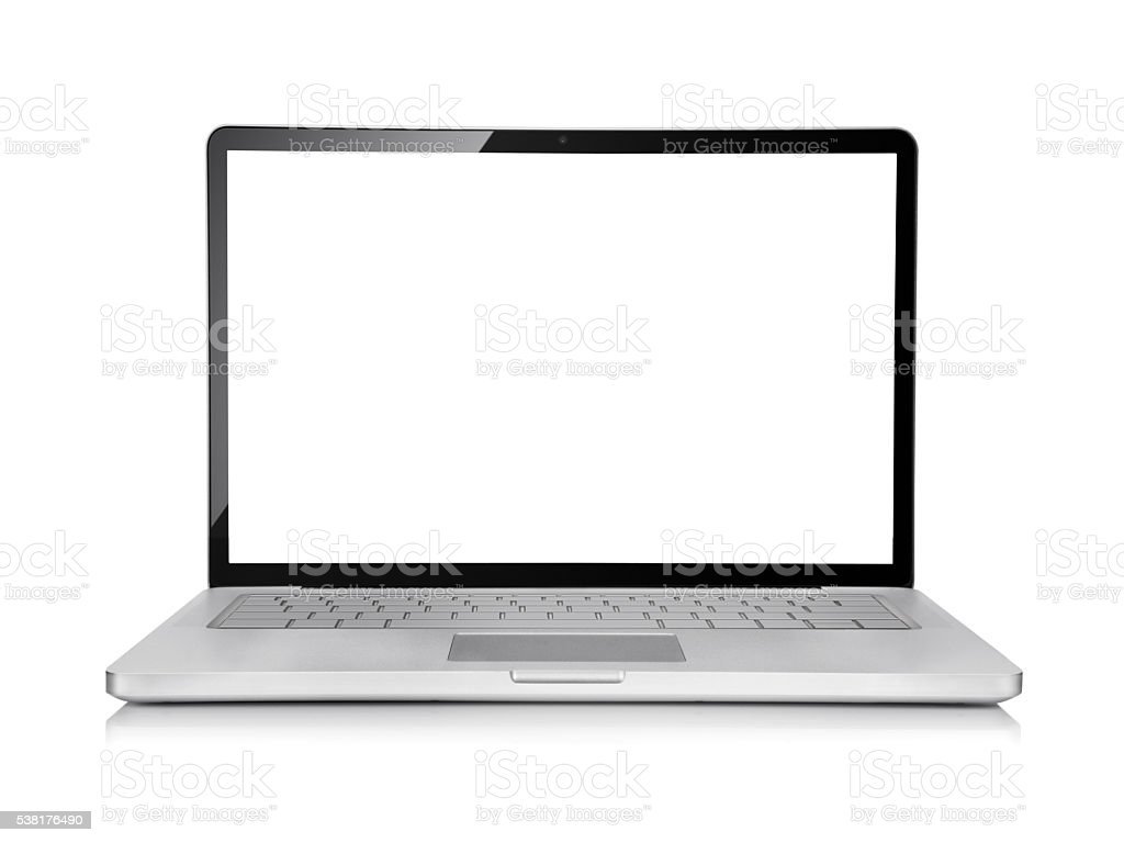 Silver Laptop stock photo