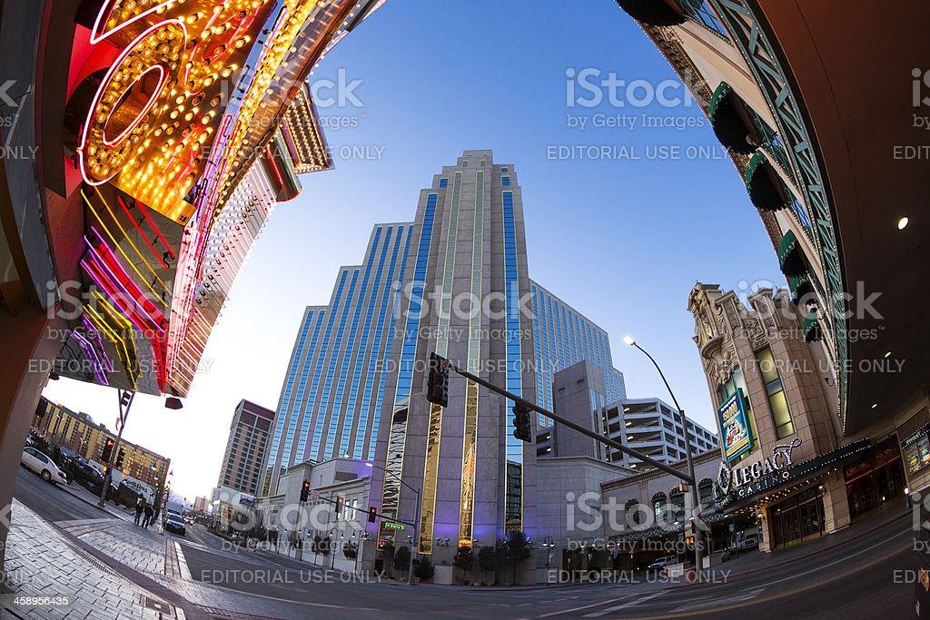 Silver Legacy casino resourt downtown Reno, Nevada royalty-free stock photo