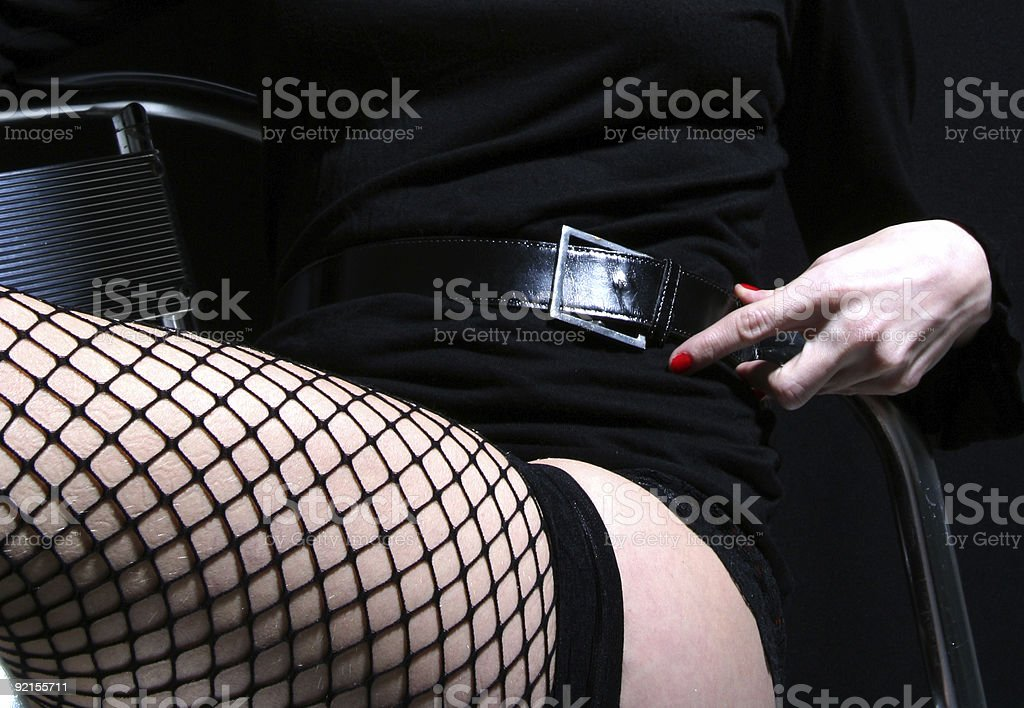 Silver legs royalty-free stock photo