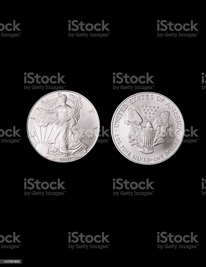 Silver Liberty Coins stock photo