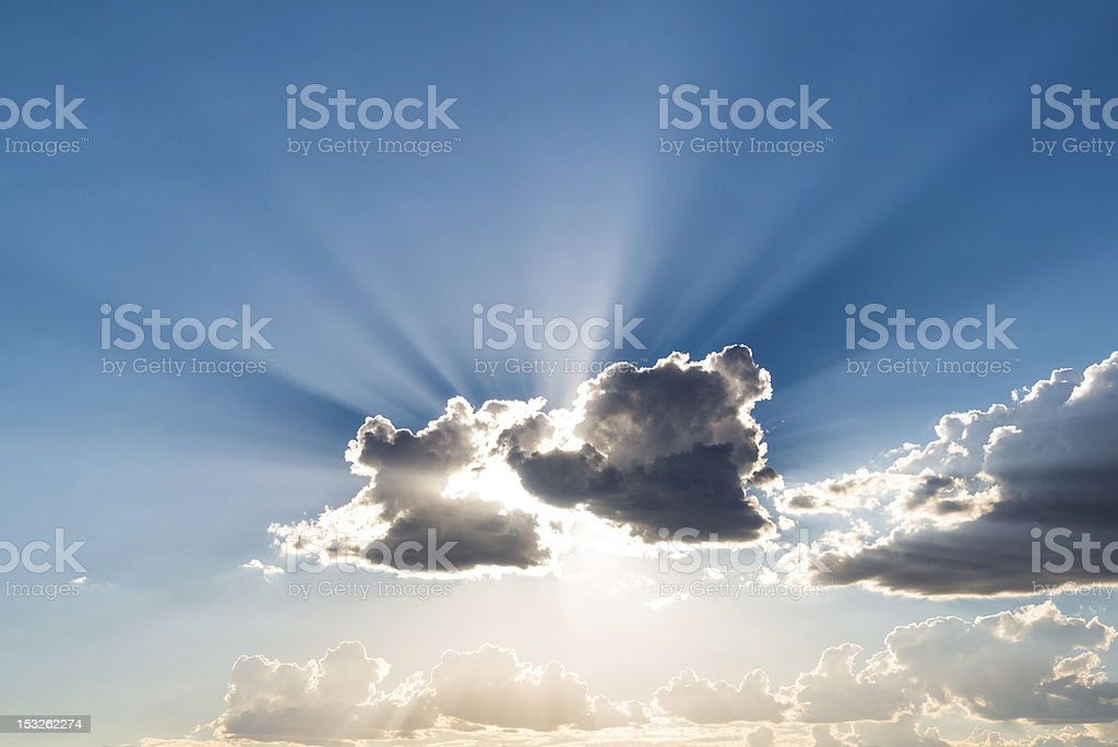 Silver Lining of Clouds royalty-free stock photo
