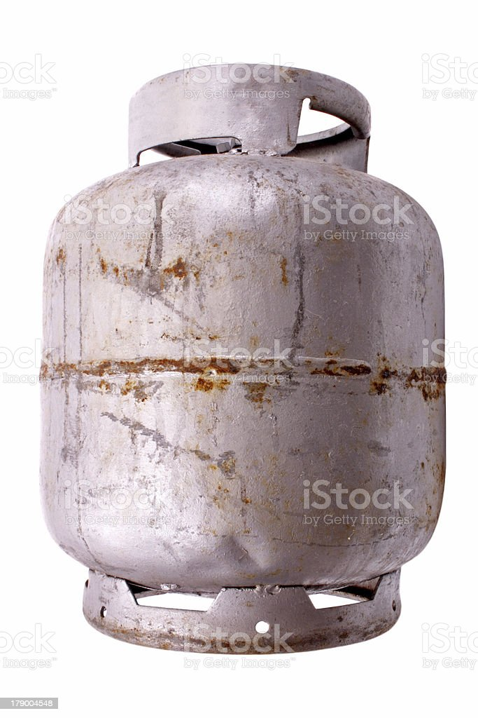 Silver liquified petroleum gas stock photo