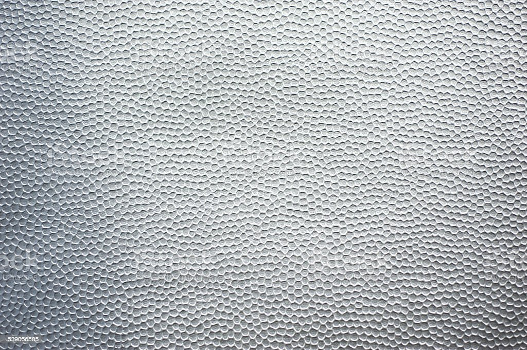 Silver Man-Made Leather stock photo