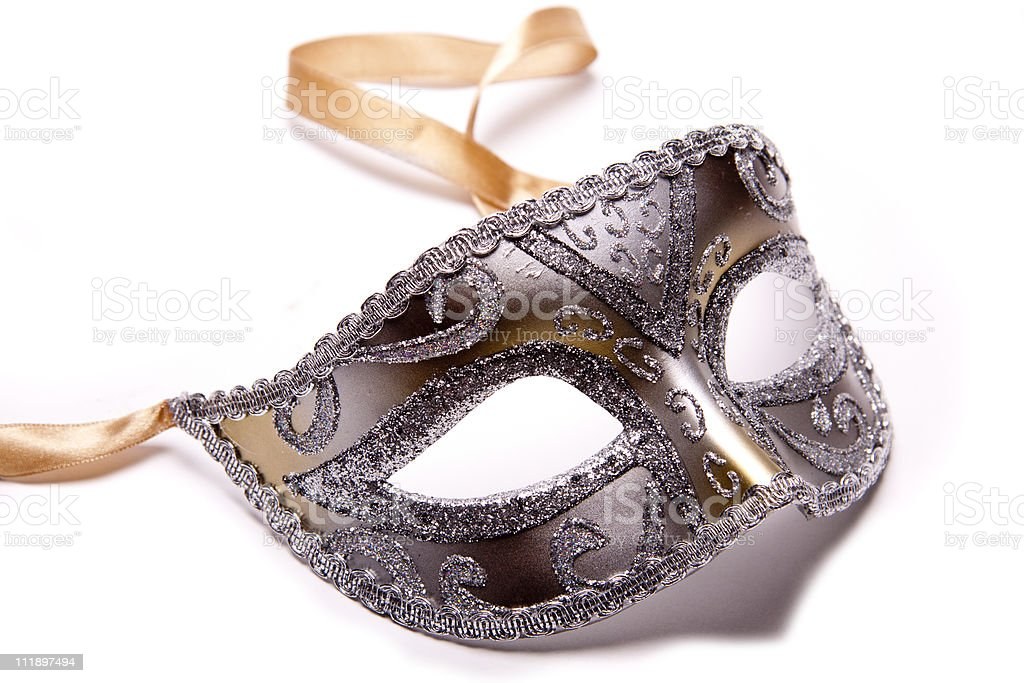 Silver Mask. stock photo