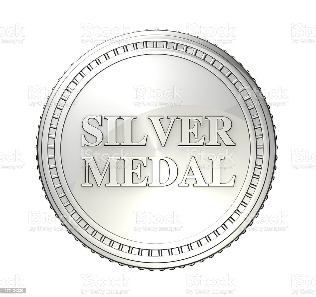 Silver Medal stock photo