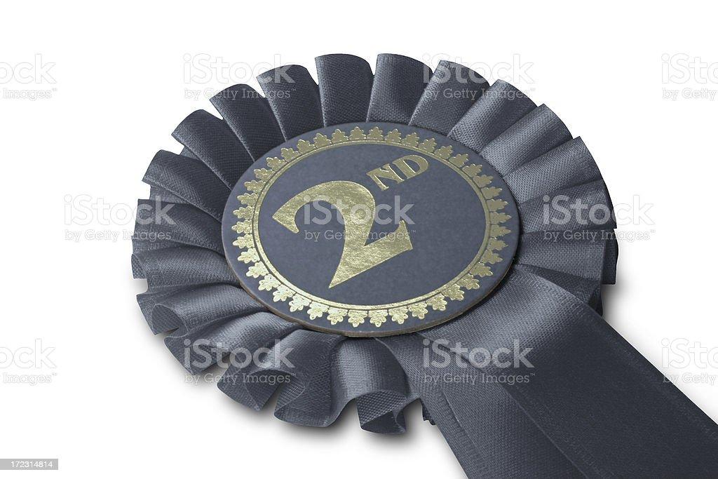 Silver Medal Rosette stock photo
