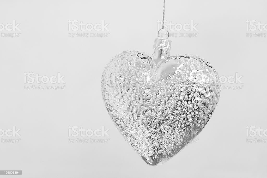 Silver metal heart royalty-free stock photo