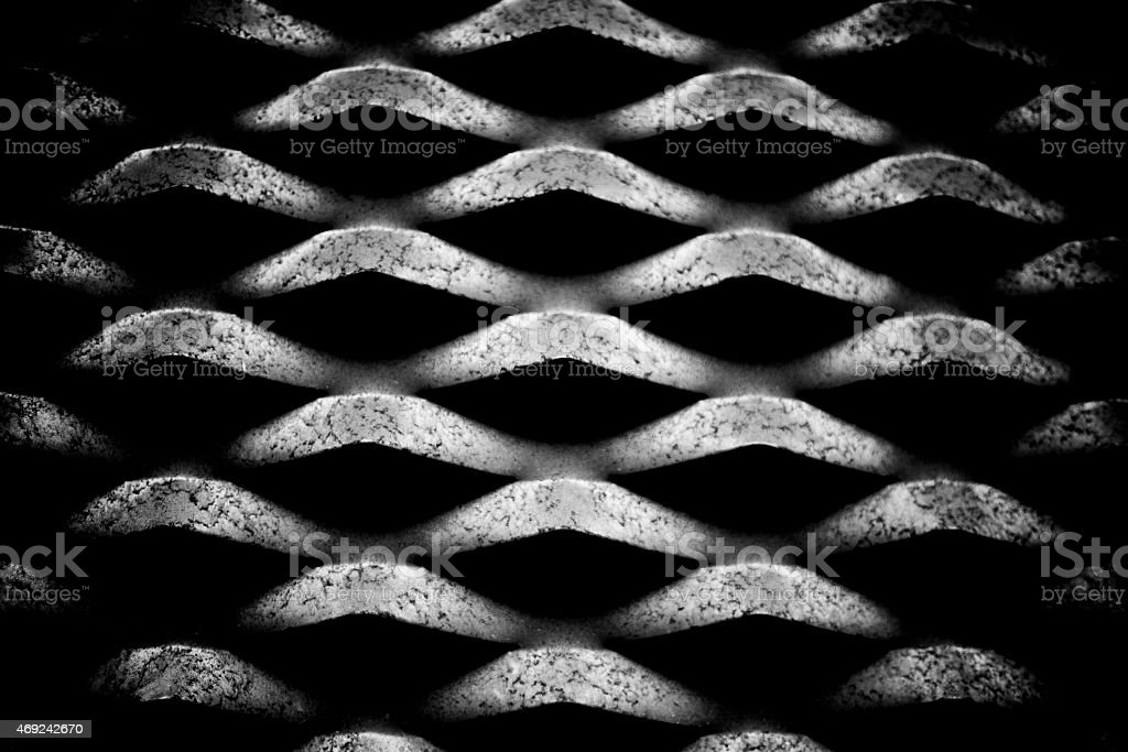 silver metal lattice texture for background stock photo