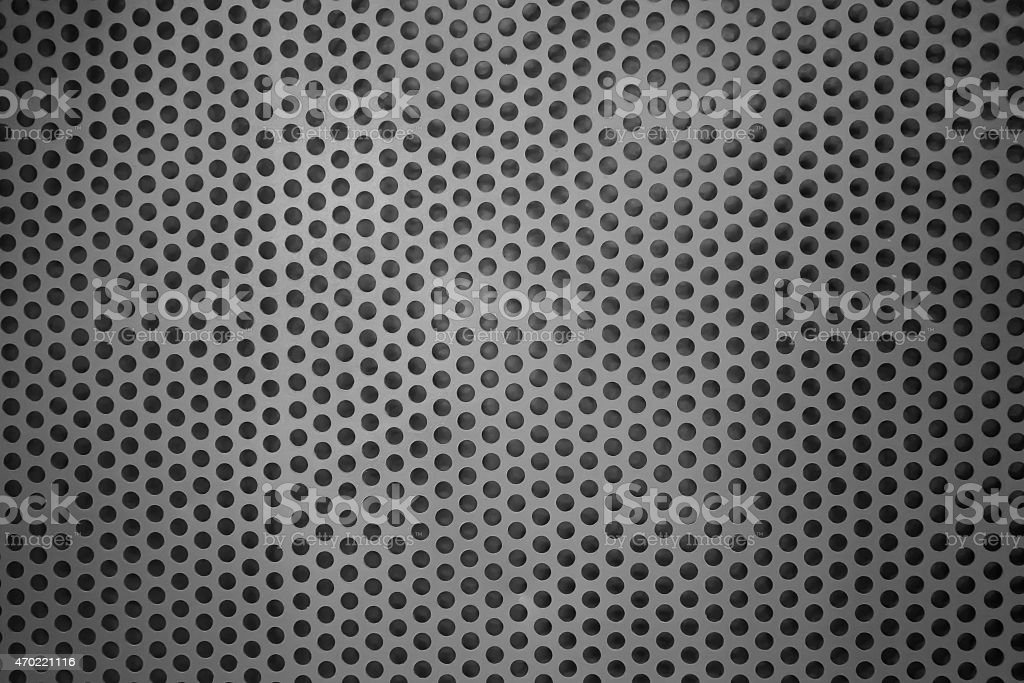 Silver Metal Mesh with round hole stock photo