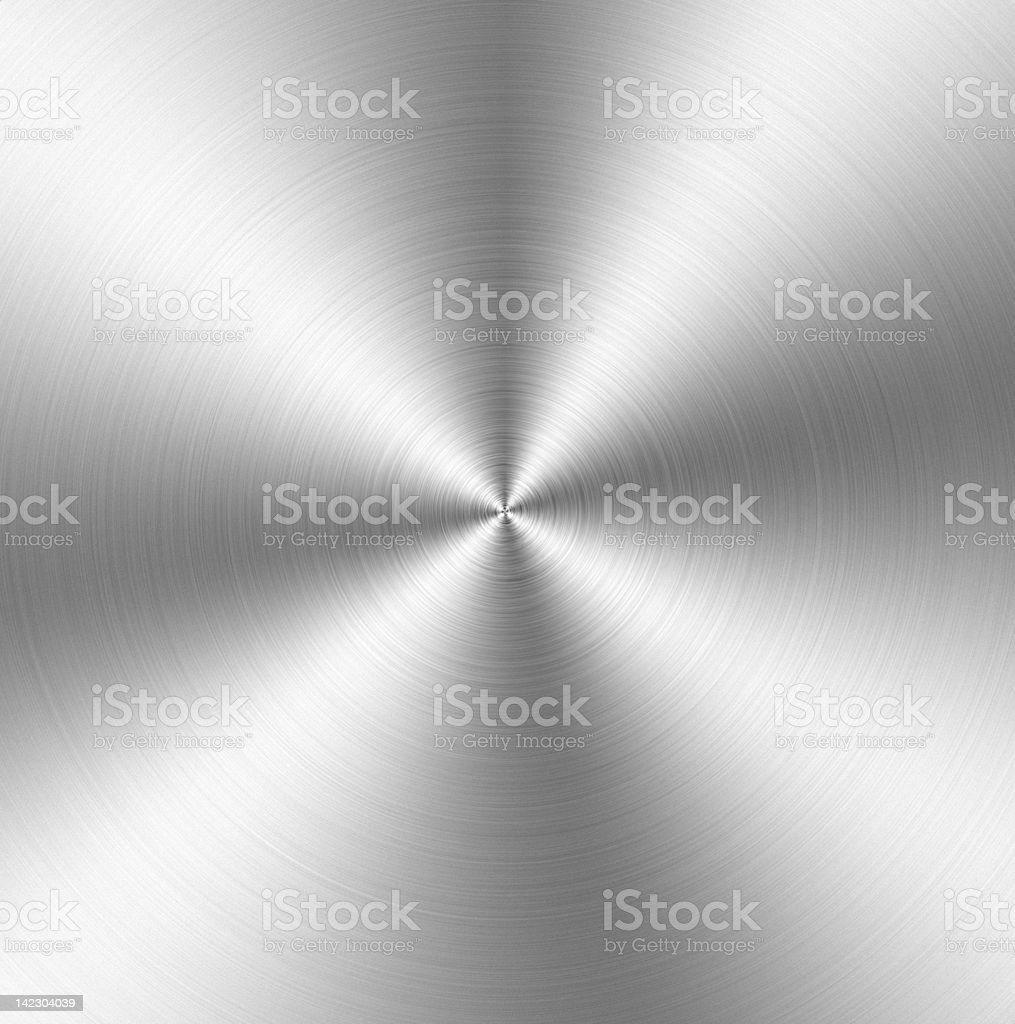 Silver metal spinning background stock photo