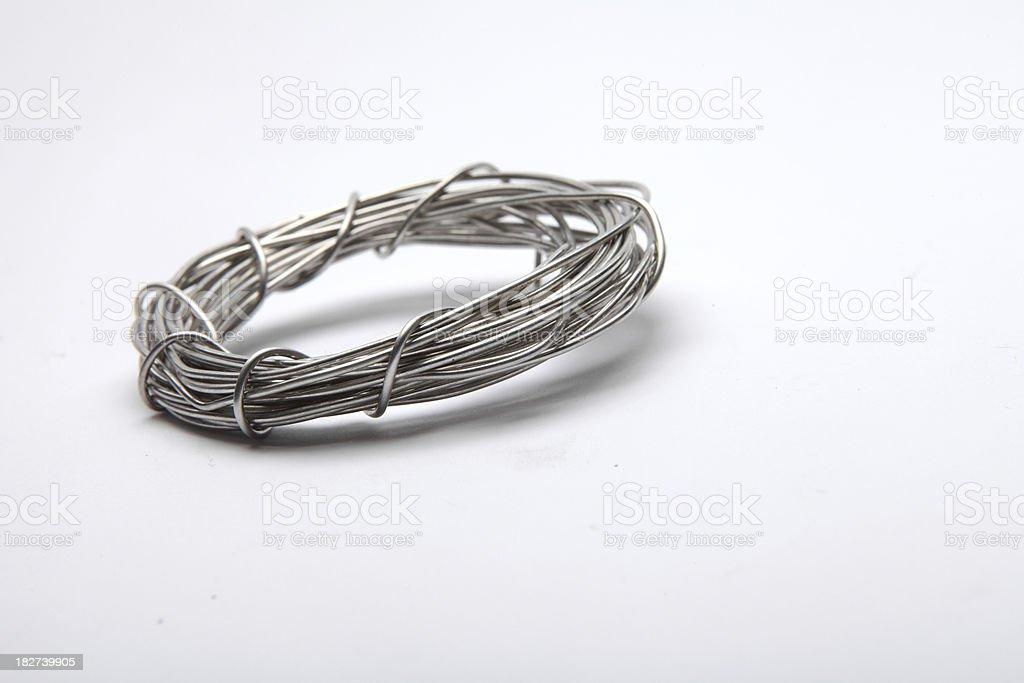 Silver metal wires Size XXXL royalty-free stock photo