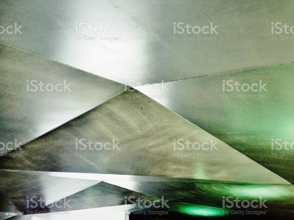 Silver metallic roof. royalty-free stock photo