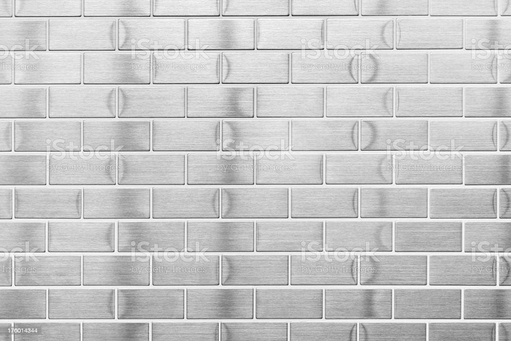 Silver Metallic Wall Tile Pattern Decor royalty-free stock photo