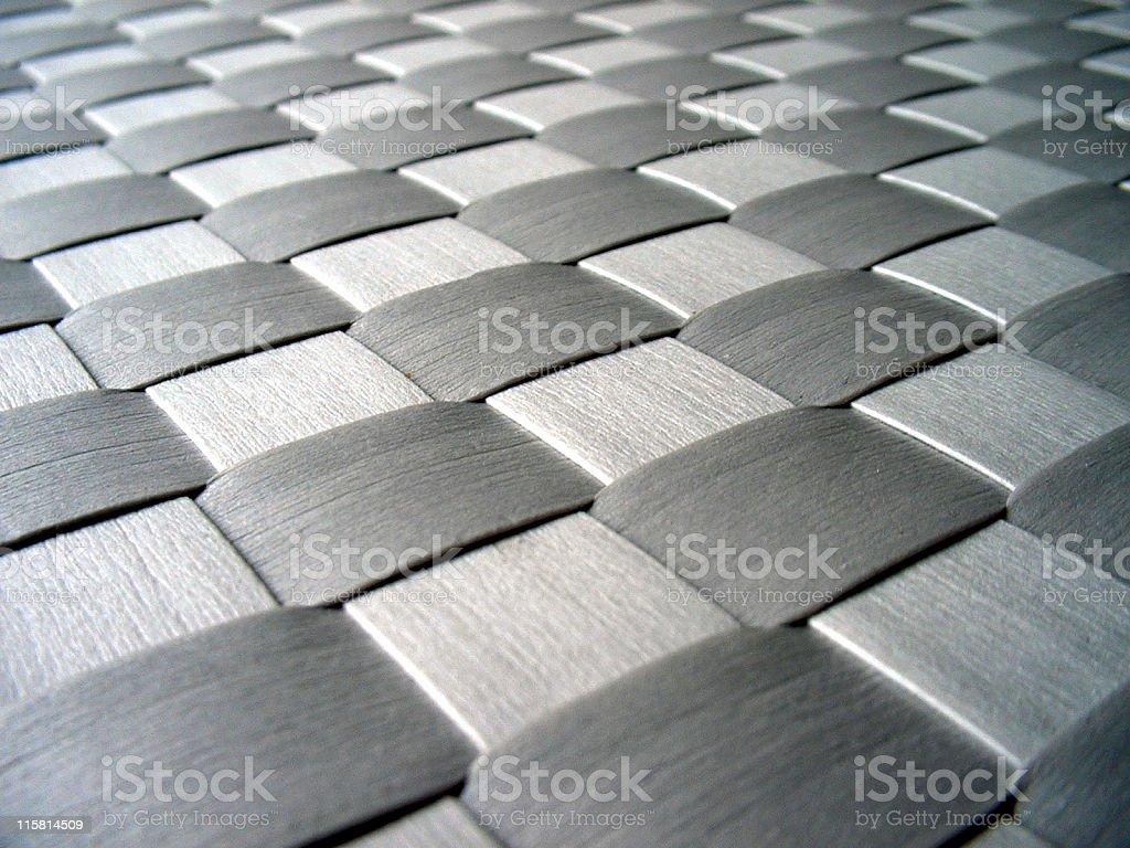 Silver metallic weave royalty-free stock photo