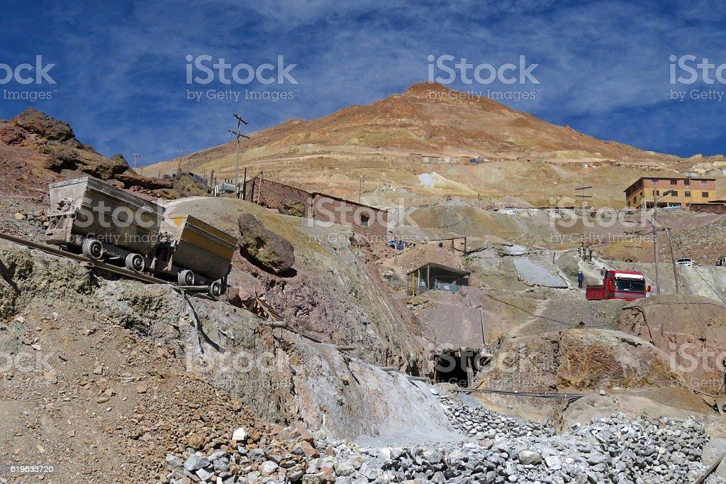 Silver mines of Potosi Bolivia stock photo
