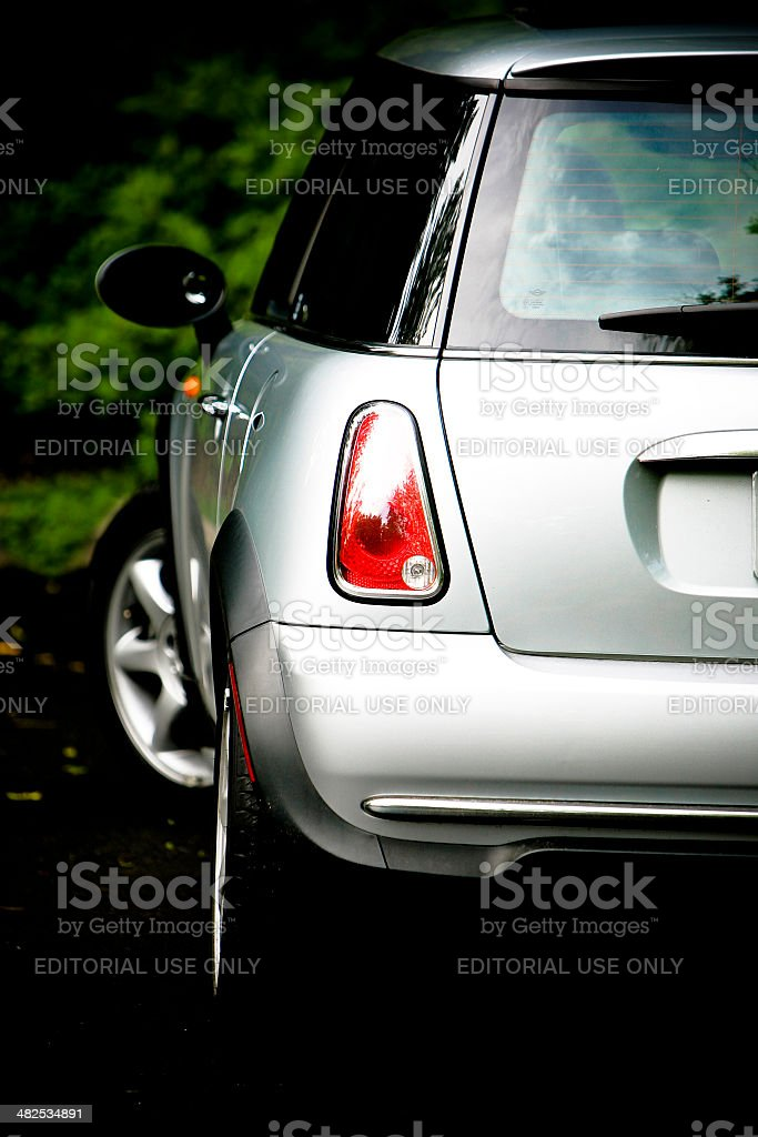 Silver MINI COOPER in Toronto stock photo
