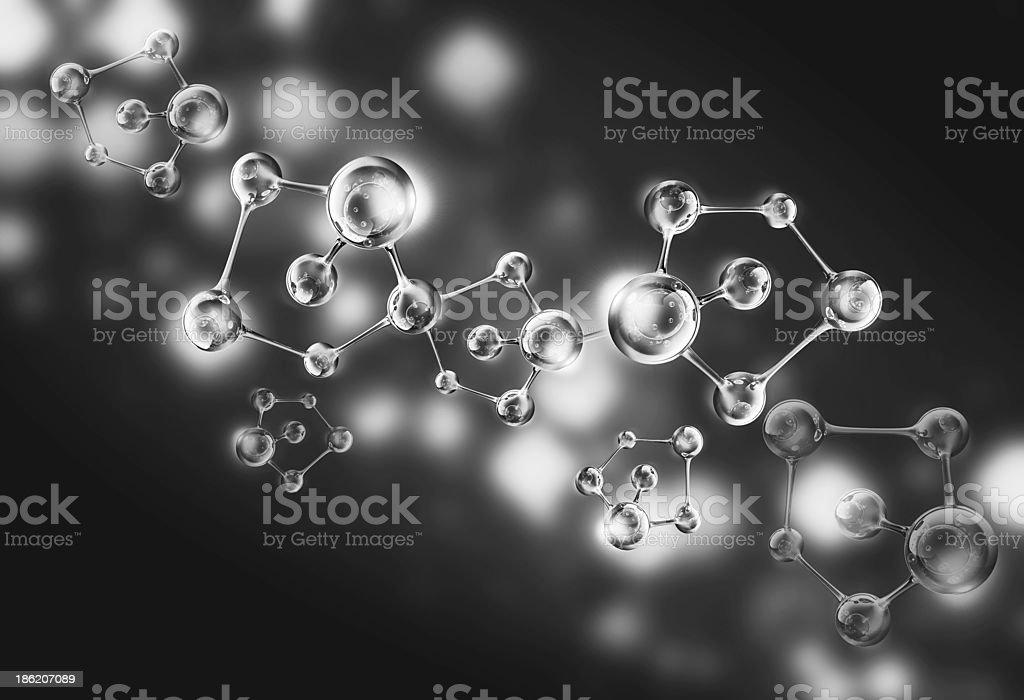 silver molecule stock photo